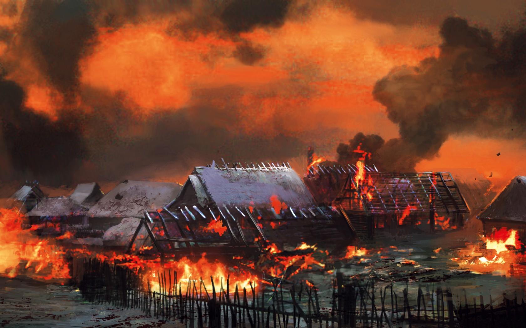 Пожары в деревне