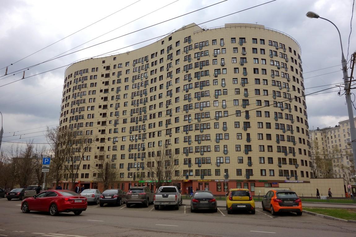 Москва - здание необычной формы