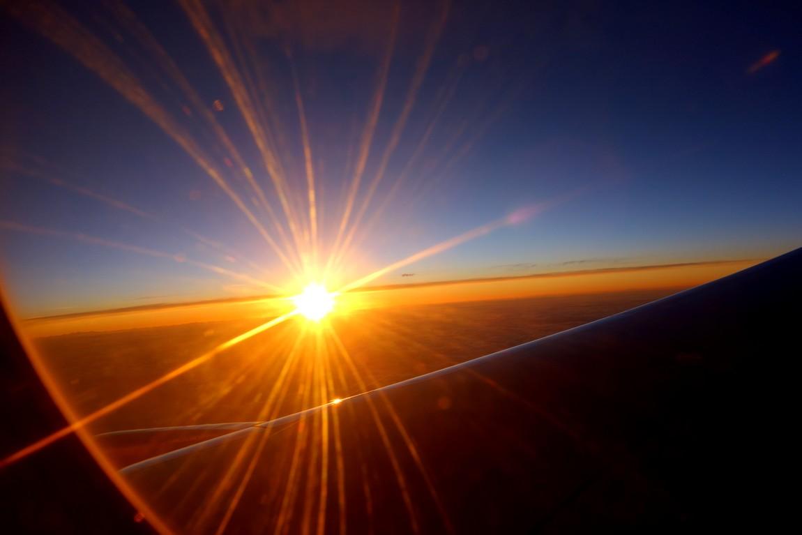 Закат солнца в небе