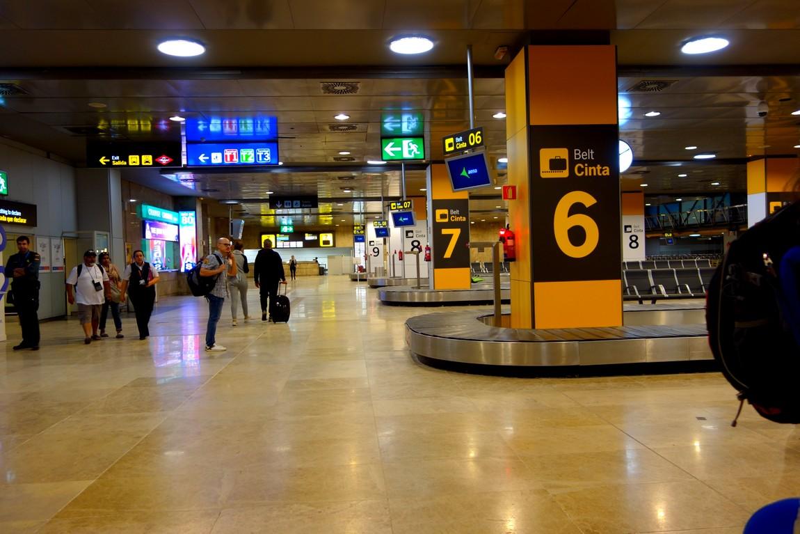 Аэропорт в Мадриде - получение вещей