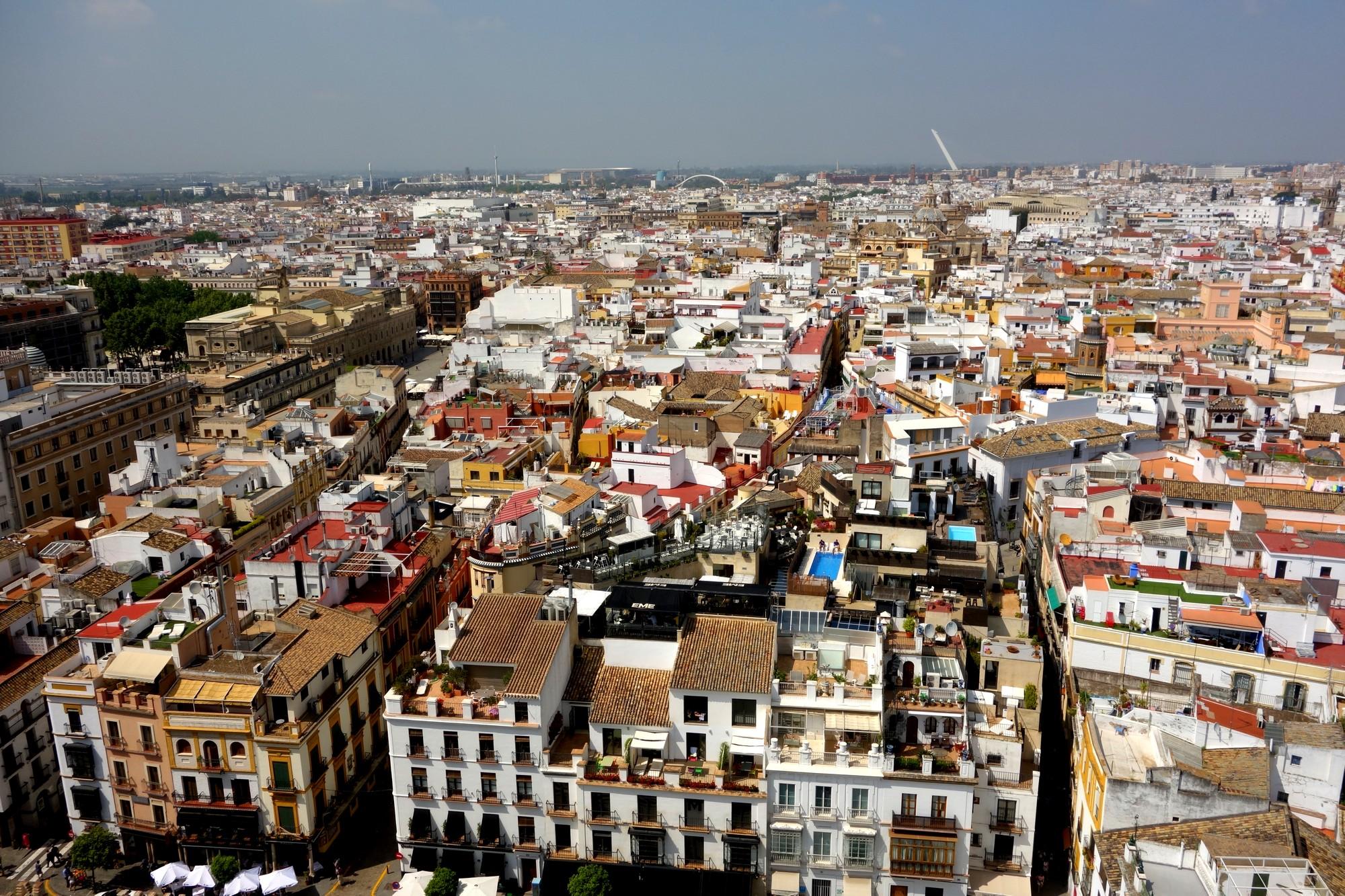 Севилья - вид с башни (Испания)
