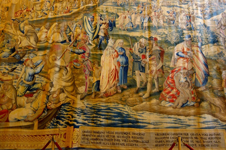 Севильский Алькасар (Испания) - зал гобеленов