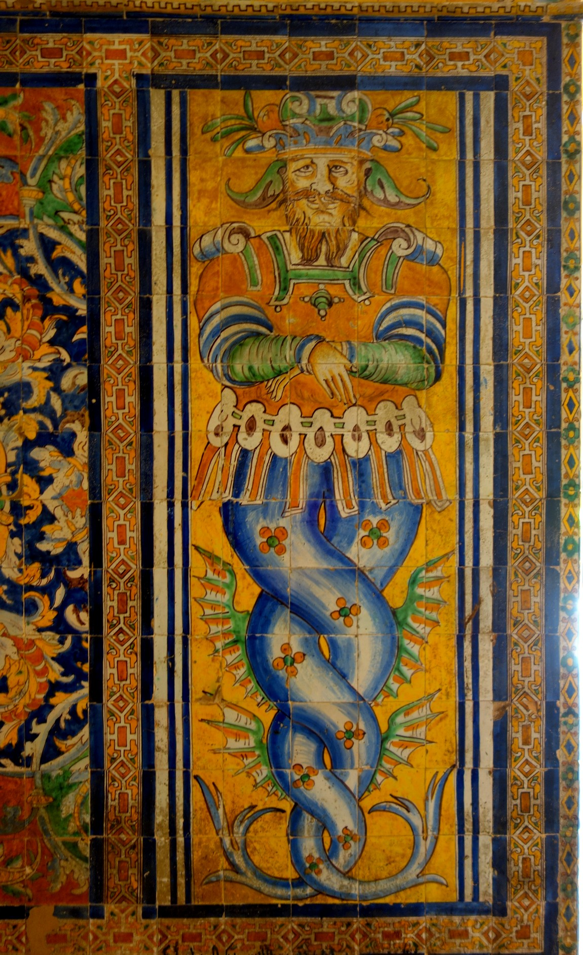 Севильский Алькасар (Испания) - узоры и рисунки на плитках