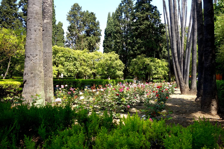 Сады в Алькасаре в Севилье.