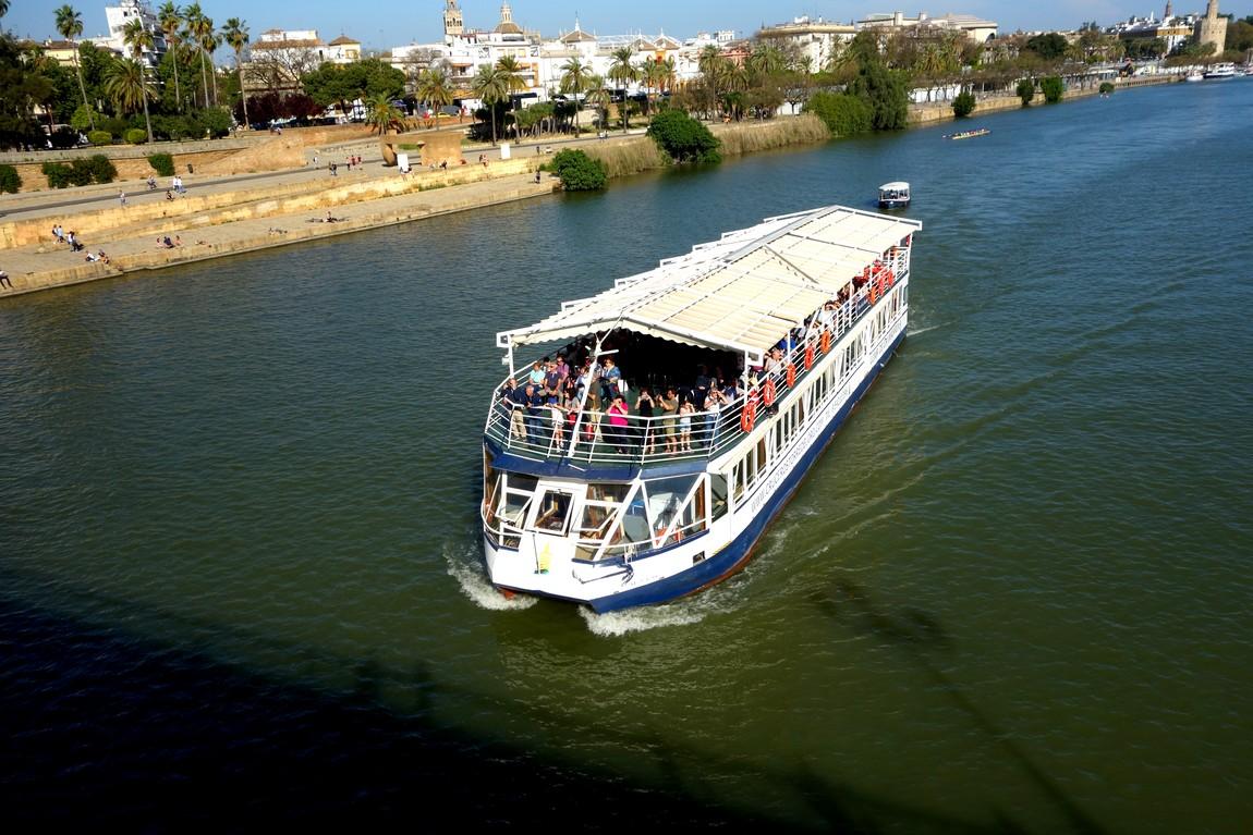 Река Гвадалквивир в Севилье