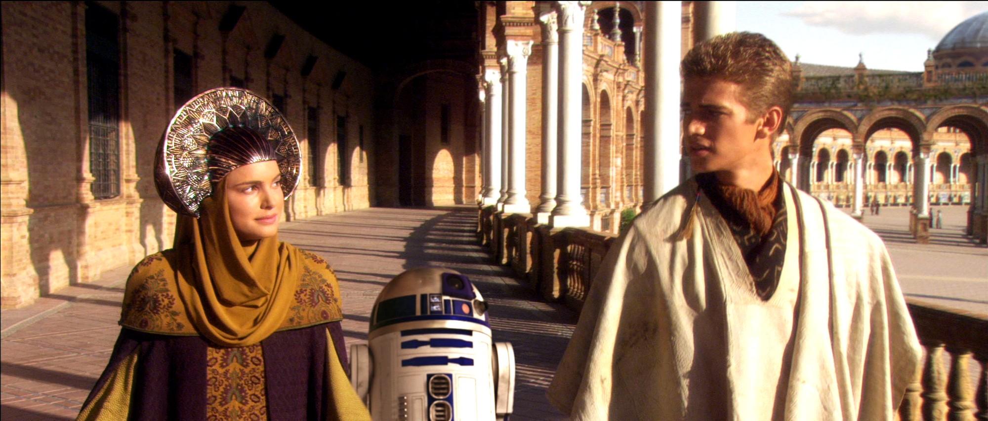 """Площадь Испании в Севилье-кадр из фильма """"Звёздные войны"""""""