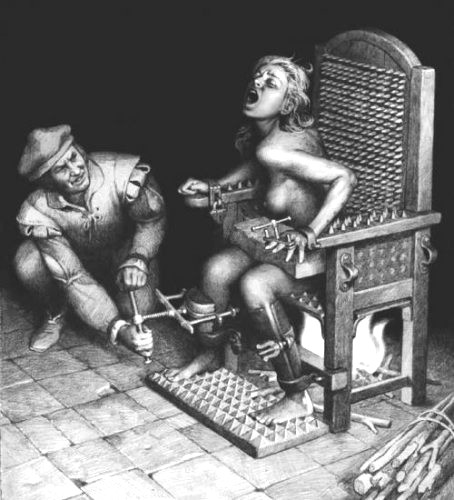 Музей инквизиции в Кордове - кресло допроса