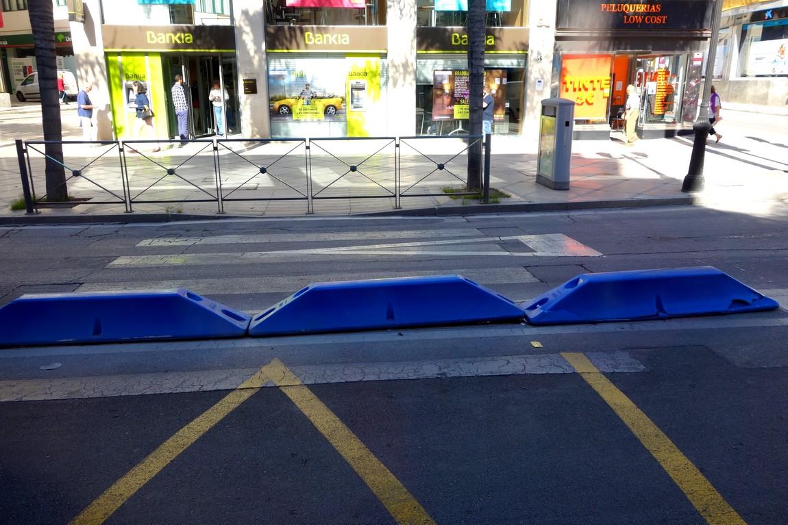 Разделительная полоса улиц в Малаге