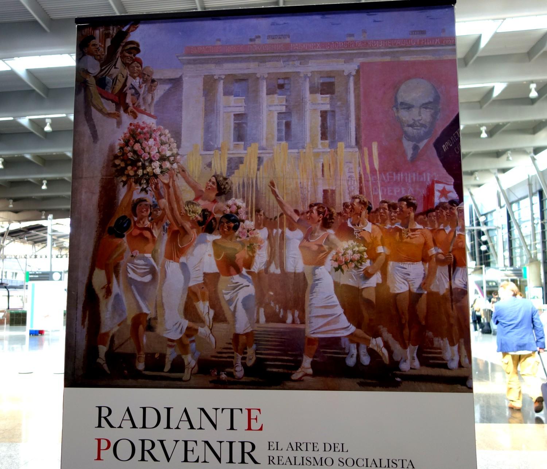 Плакат с Лениным на улице в Малаге