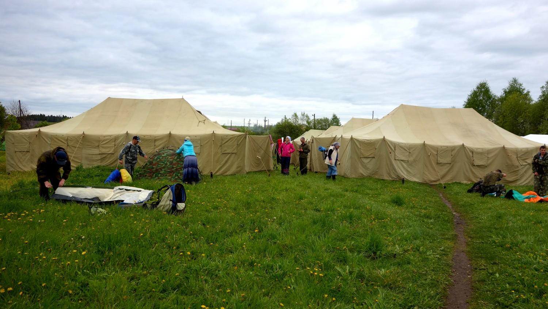 Бобино - палатки