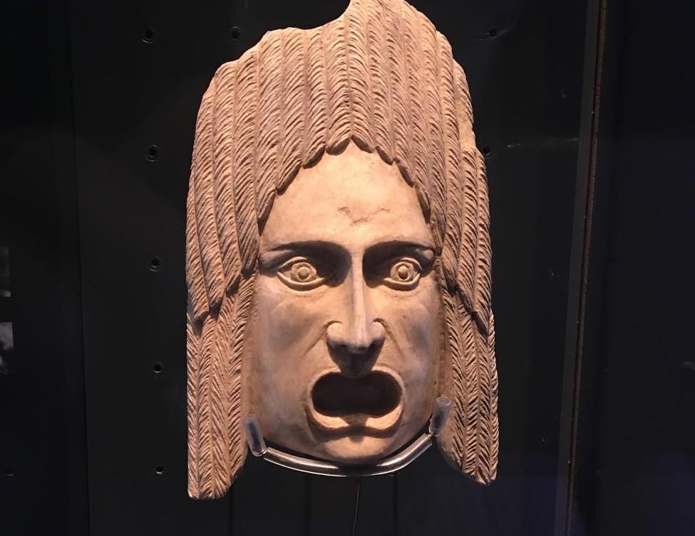 Маски римского музея - Малага в Испании