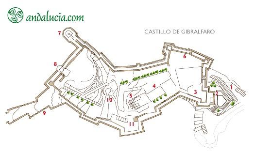 Крепость Хибральфаро (Castillo de Gibralfaro)