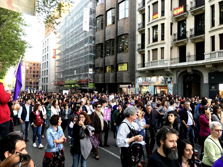 Демонстрация в Мадриде