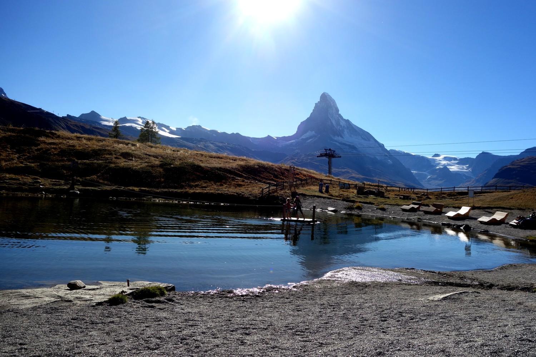 Озеро в горах Швейцарии - Leisee (Лайзее)