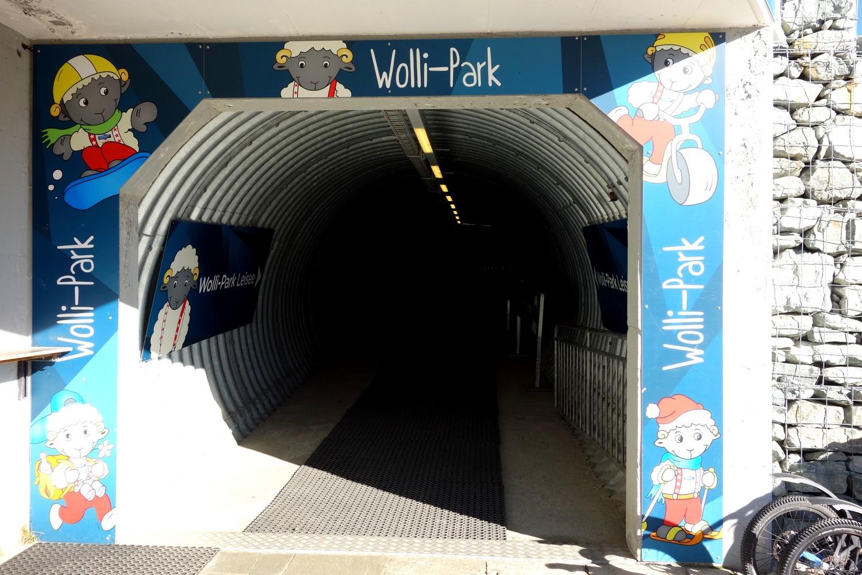 Вход в Wolli Park на станции канатной дороги Sunegga