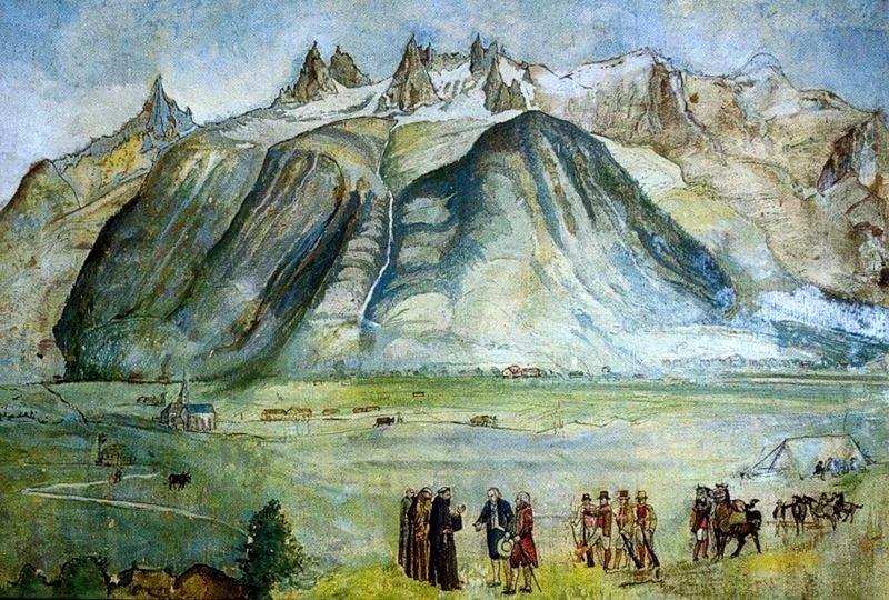 Картина Альп и Шамони