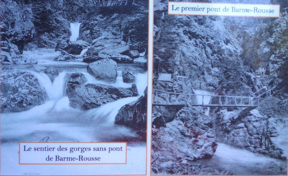 Первый мост Barme-Rousse.(справа). Слева Тропа ущелий без моста.- Ущелье Де-ла-Диозаз