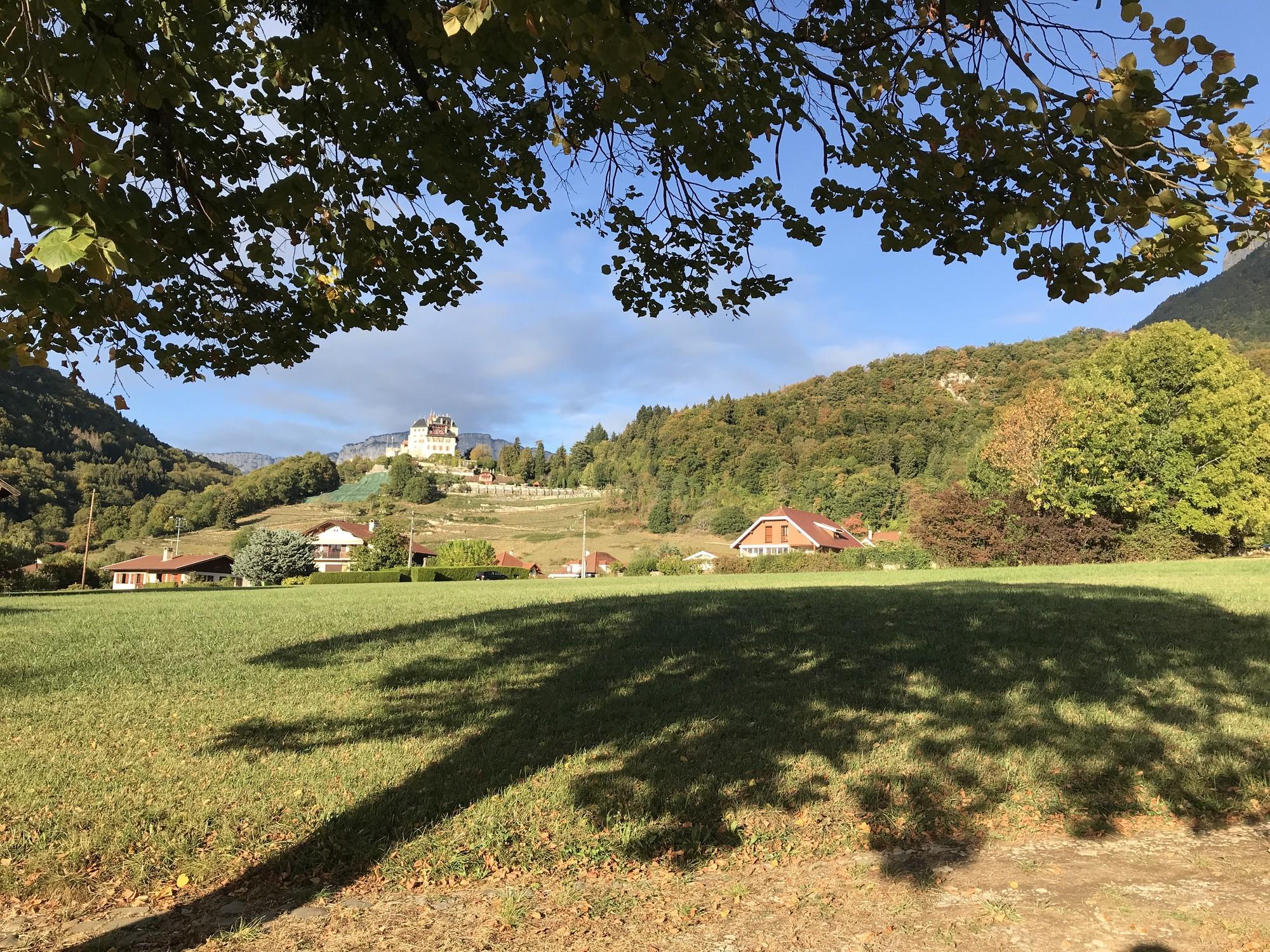 Пейзаж деревень во Франции