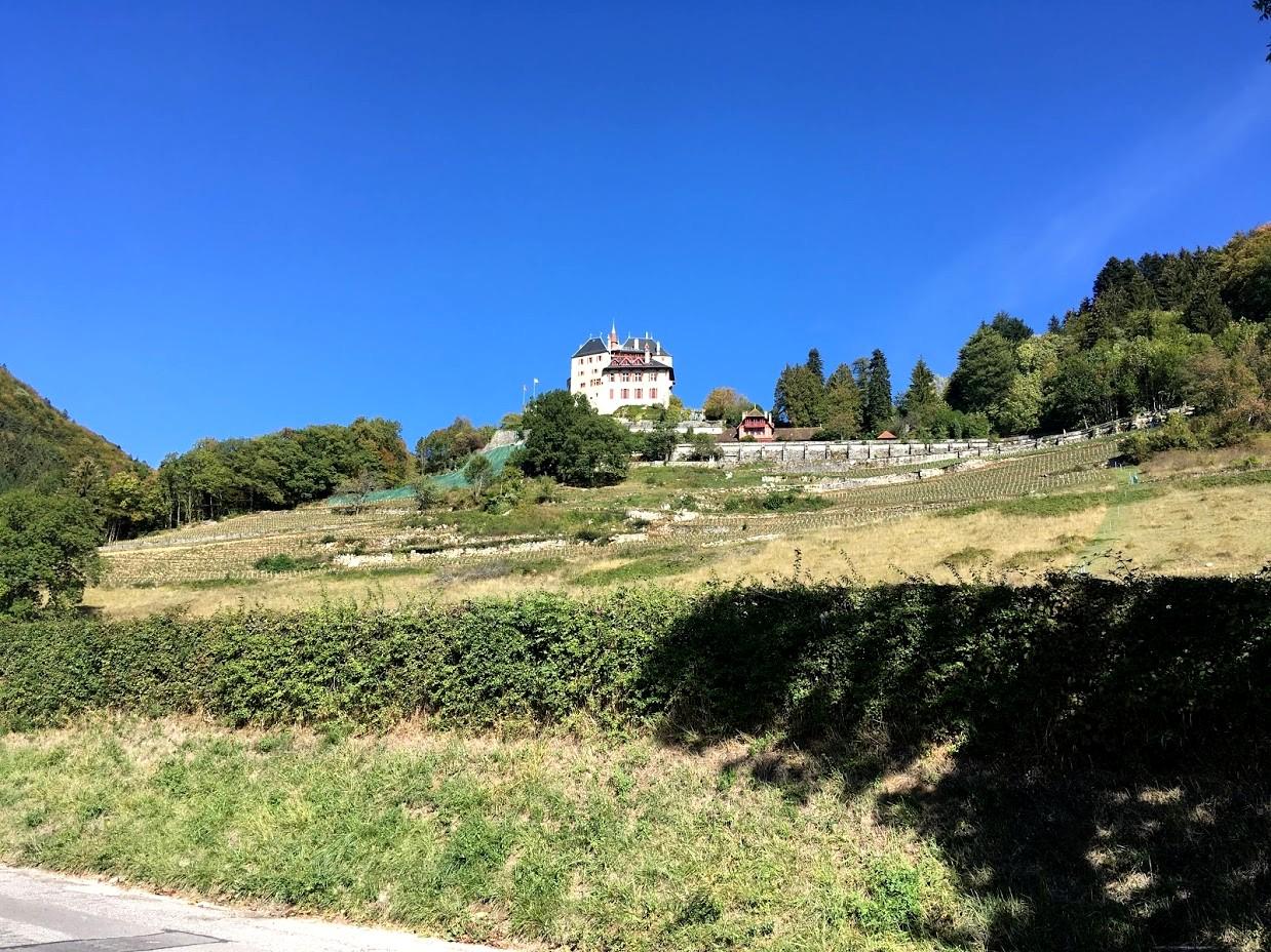 Замок Ментон на холме (окрестности Анси)