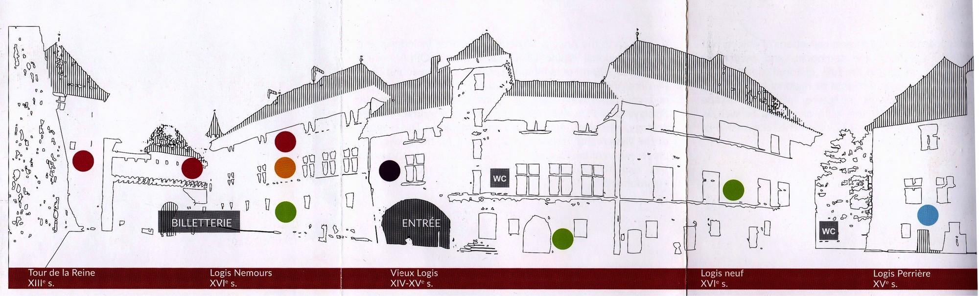 Схема замка Анси