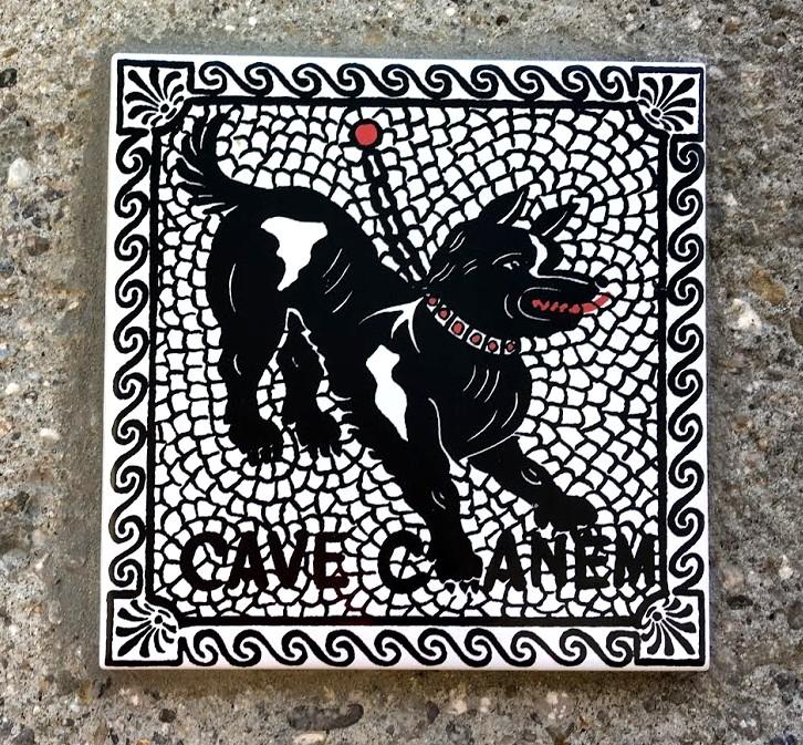 Осторожно - злая собака (табличка во Франции)